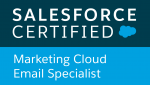 SF Marketing Cloud Certified Email Specialist